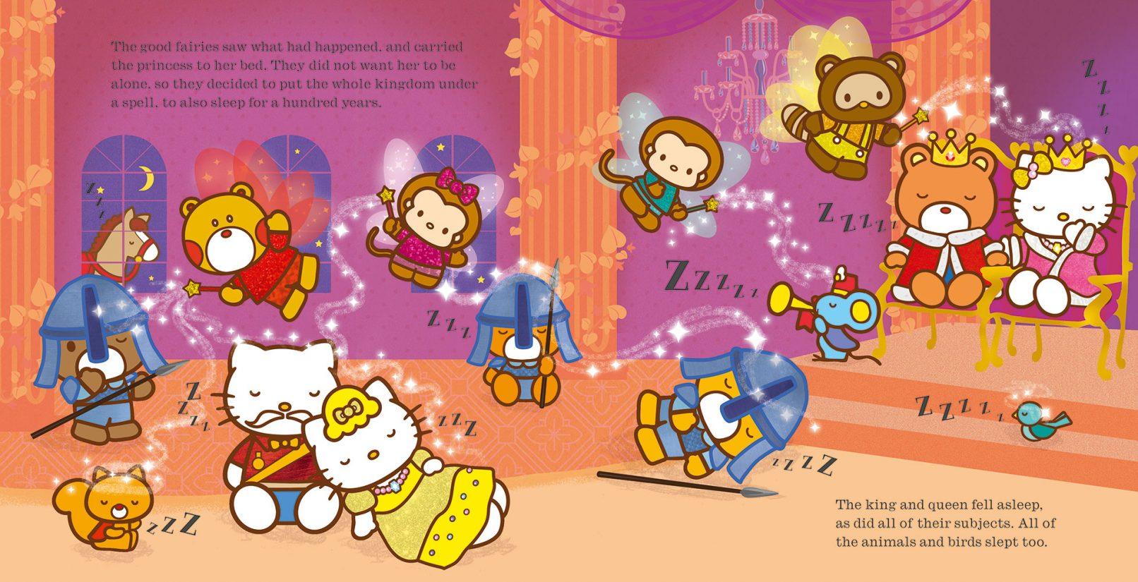 Hello Kitty Is Sleeping Beauty Banana Bear Books And
