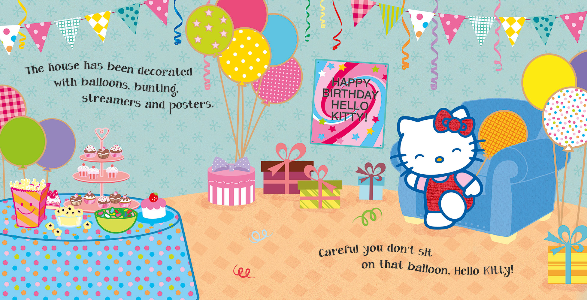 hello kitty happy birthday banana bear books and illustration