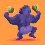 dancing gorilla bum